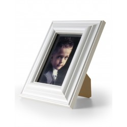 Ramka na fotografie retro wypukła 10x15 biała