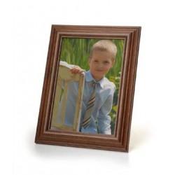 Ramka na fotografie retro wypukła 10x15 ciemny brąz