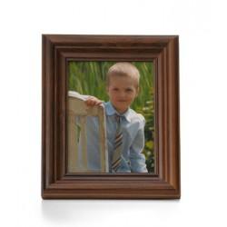 Ramka na fotografie retro wklęsła 10x15 ciemny brąz