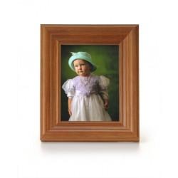 Ramka na fotografie retro wklęsła 10x10 średni brąz