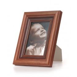 Ramka na fotografie retro wklęsła 10x10 patyna mahoń