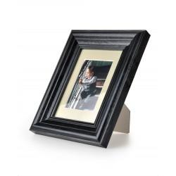 Ramka na fotografie retro wklęsła 10x10 czarna