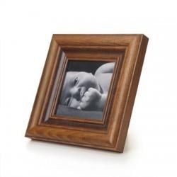 Ramka na fotografie retro wklęsła 10x10 15 patyna ciemny brąz