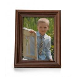 Ramka na fotografie retro wklęsła 15x15 ciemny brąz