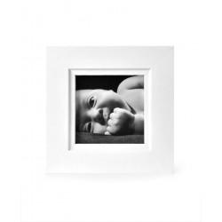 Ramka na fotografię z frezem 10x10  biały