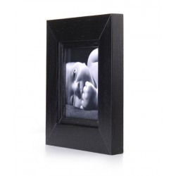 Ramka na fotografię z frezem 10x10  czarny