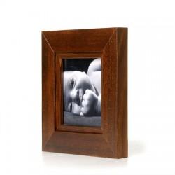 Ramka na fotografię z frezem 15x15 ciemny brąz