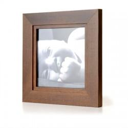 Ramka na fotografię z frezem 20x20  ciemny brąz