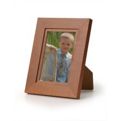 Ramka na fotografię prosta z frezem 10x15 średni brąz
