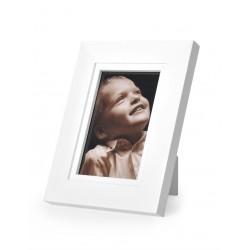 Ramka na fotografię prosta z frezem 10x15 biały