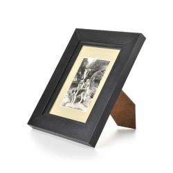 Ramka na fotografię prosta z frezem 15x21  czarny