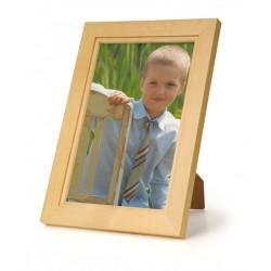 Ramka na fotografię prosta z frezem 21x30 jasny brąz