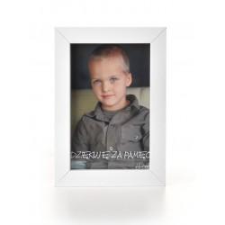 Ramka na fotografię prosta głeboka 10x15 biała