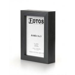 Ramka na fotografię prosta głęboka 10x15 czarna