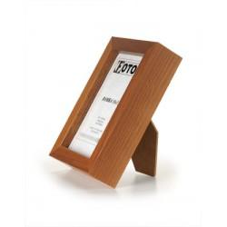 Ramka na fotografię prosta głeboka 10x15 średni brąz