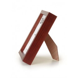 Ramka drewniana drapowana wąska, średni brąz 21x30