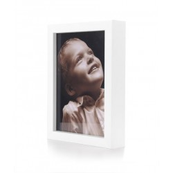Ramka na fotografię prosta głęboka 15x21  biała