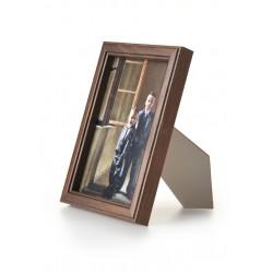 Ramka drewniana wąska 103, ciemny brąz 15x21