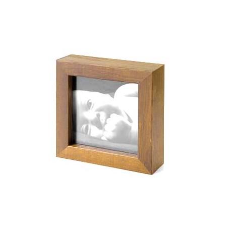 Ramka drewniana, kolor mahoń  21x30