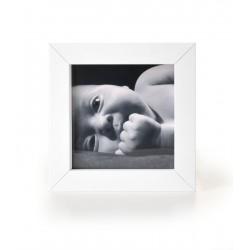 Ramka na fotografię prosta głęboka 10x10 biała