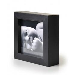 Ramka na fotografię prosta głęboka 10x10 czarna