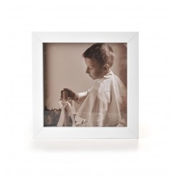 Ramka na fotografię prosta głęboka 15x15  biała