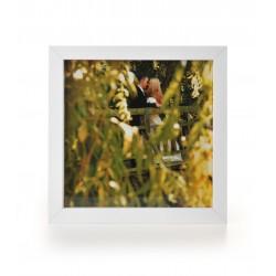 Ramka na fotografię prosta głęboka 20x20  biała