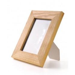 Ramka na zdjęcie prosta szczotkowana 10x15 jasny brąz