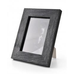 Ramka na zdjęcie prosta szczotkowana 15x21 czarna