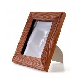 Ramka na zdjęcie prosta szczotkowana 21x30 średni brąz