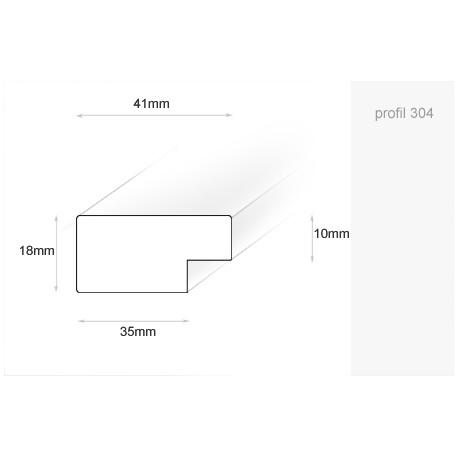 Ramka drewniana, wąska, retro, biały, 21x30