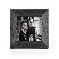 Ramka na zdjęcie prosta szczotkowana 10x10 czarna