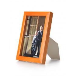 Ramka drewniana wąska 101, pomarańczowa 13x18