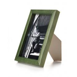 Ramka drewniana wąska 101, zielona 13x18