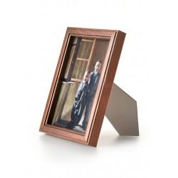 Ramka drewniana wąska 103, średni brąz 21x30
