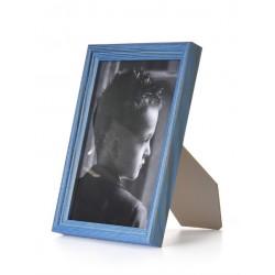 Ramka drewniana wąska 105, niebieska 10x15