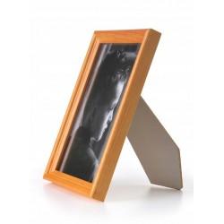 Ramka drewniana wąska 105, pomarańczowa 10x15