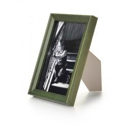 Ramka drewniana wąska 104, zielona 15x21