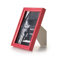 Ramka drewniana wąska 104, czerwona 15x21