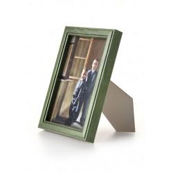 Ramka drewniana wąska 103, zielona 13x18