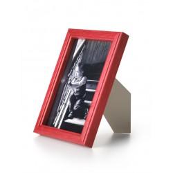 Ramka drewniana wąska 103, czerwona 15x21
