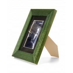 Ramka na zdjęcie prosta szczotkowana 13x18 zielona
