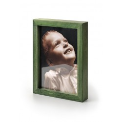 Ramka na fotografię prosta głęboka 10x15 zielona