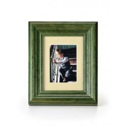 Ramka na fotografie retro wklęsła 10x15 zielona