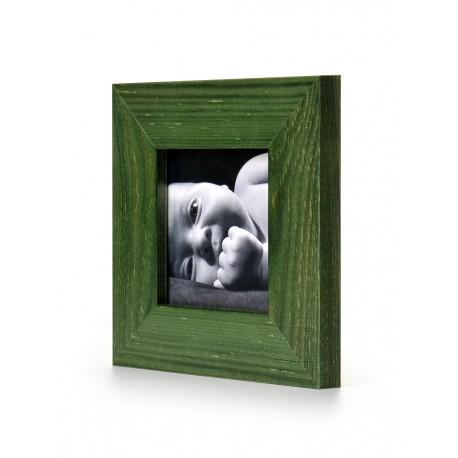 Ramka na fotografię prosta 10x10 zielona
