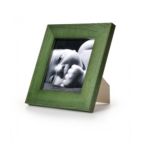 Ramka na fotografię prosta 15x15 zielona