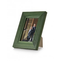 Ramka na fotografię z frezem 10x15 zielona