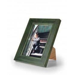 Ramka na fotografię z frezem 15x21 zielona