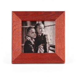 Ramka na zdjęcie prosta szczotkowana 15x15 czerwona