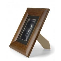 ramka do zdjęć szeroka zaokrąglona 15x15 ciemny brąz